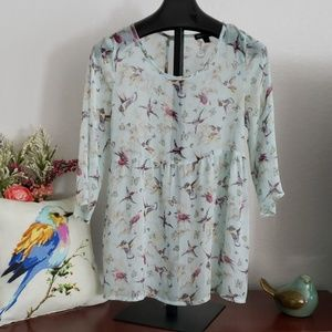 About  a Girl Sheer Blouse Size Xl